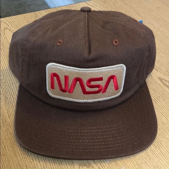 NASA space brown SnapBack hat new cap retro buzz e0e66e3cbb9b